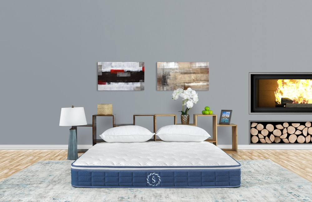 mattress photography lifestyle in room apartment setting environment