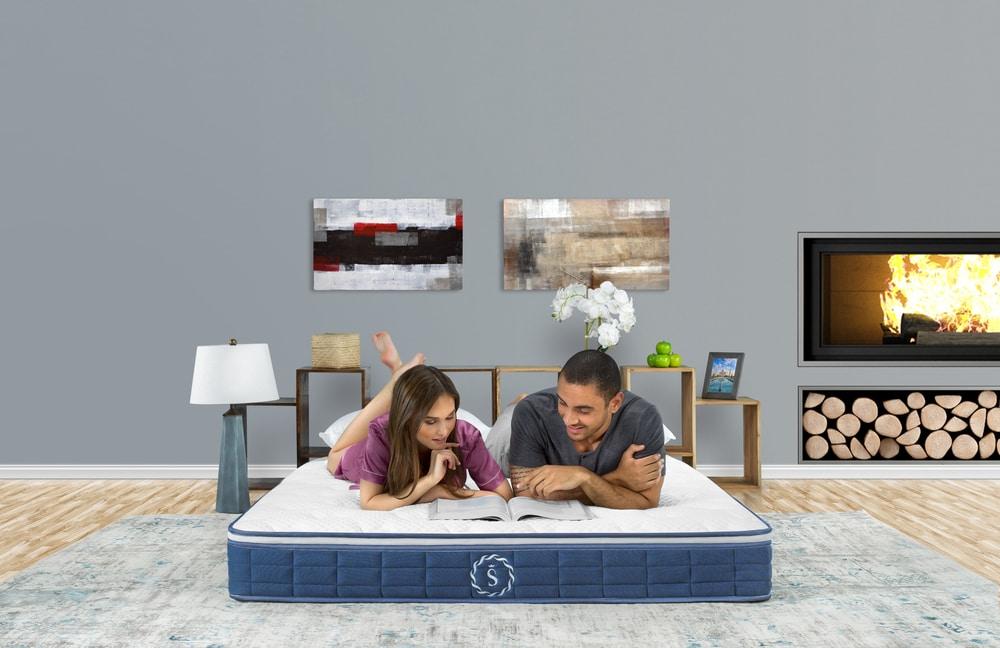 mattress commercial mattress photography mattress photoshoot models family bed studio highend advertising
