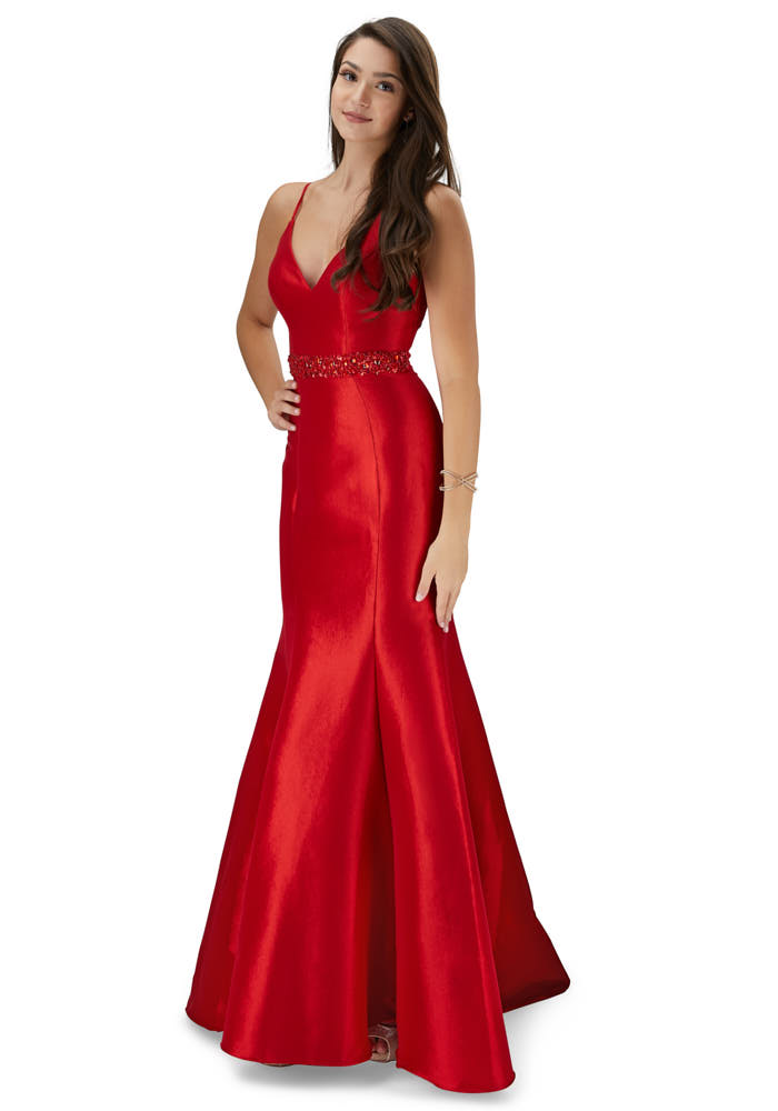 Red prom dress photography, model photoshoot in new jersey