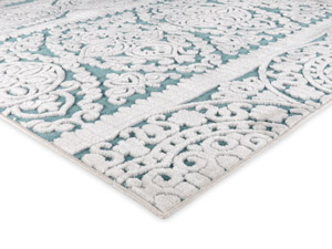 Product Photography. corner shot low angle rug photography in studio
