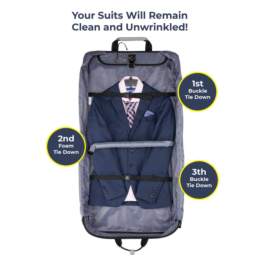 Suit Carry Bag Infographics on White Background for Amazon