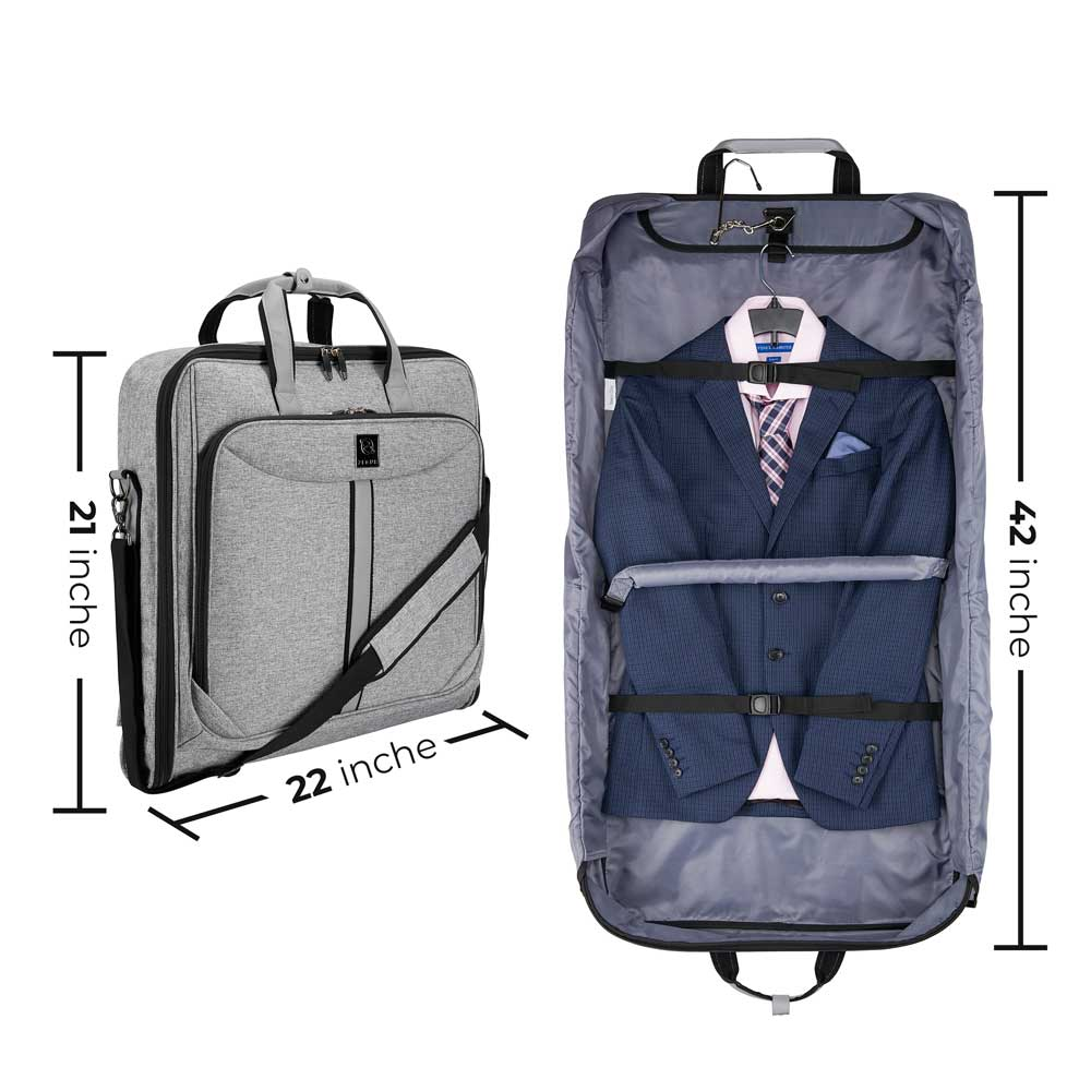 Suit Carry Bag Photography and Infographics on White Background for Amazon