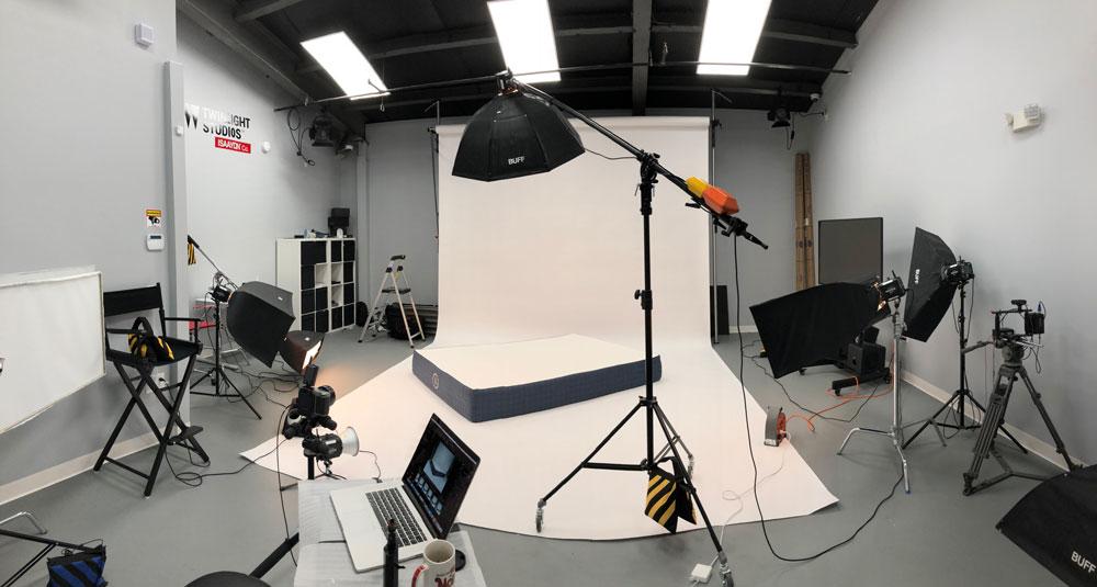 BTS Mattress photoshoot on white background in studio at ISA AYDIN PHOTOGRAPHY