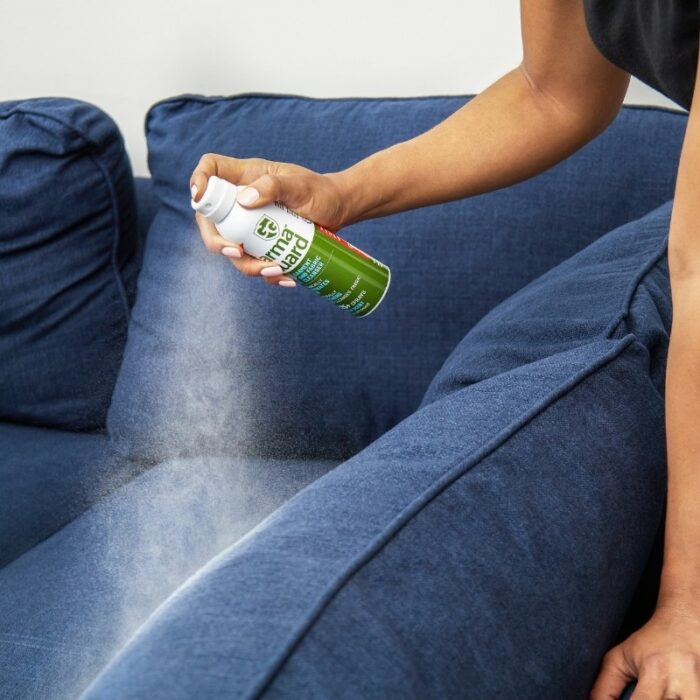 Photoshoot for Garm Guard spray Fabric Cleanser in a apartment setup