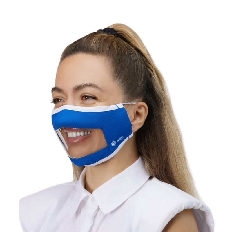 Window Face Mask in a female model, Photoshoot for eCommerce Platforms