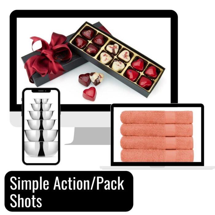 Lifestyle images on white background for ecommerce