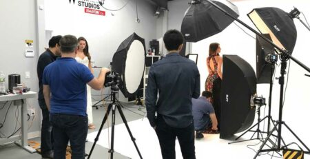Prom Dress Photoshoot with Models at Isa Aydin Studio Photography in NJ