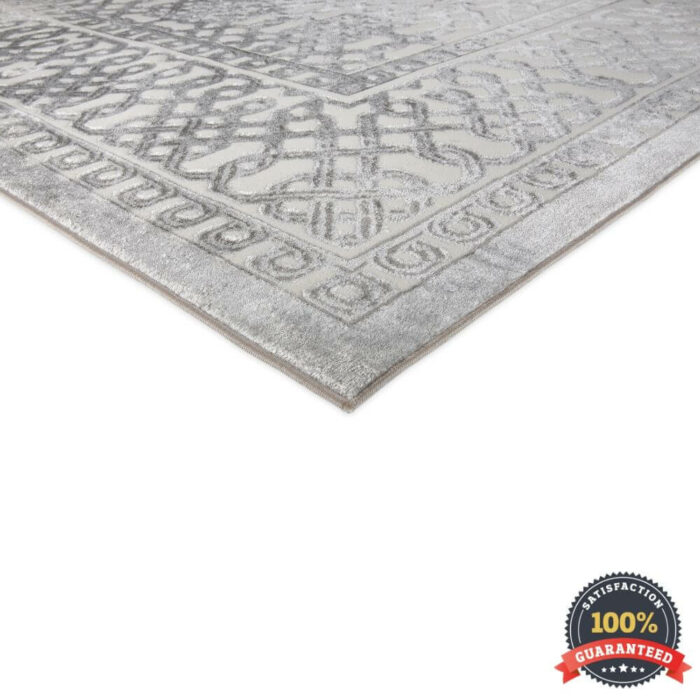 Close Up Shot of a Rug on White Background