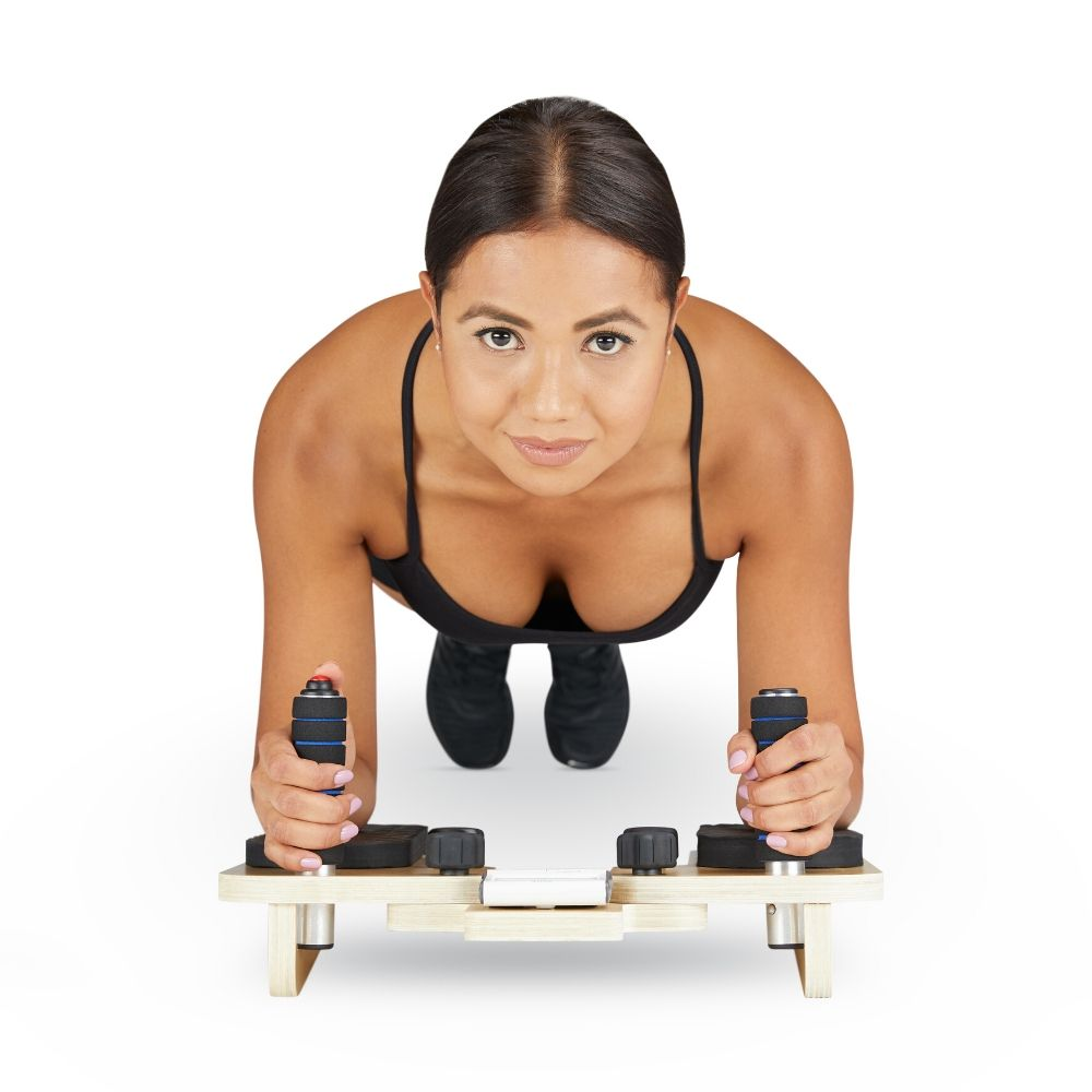 Core Plank Helper photoshoot with a Model