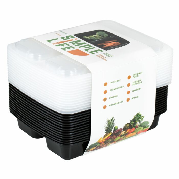 Plastic Food Containers Photo a white background for Amazon listing