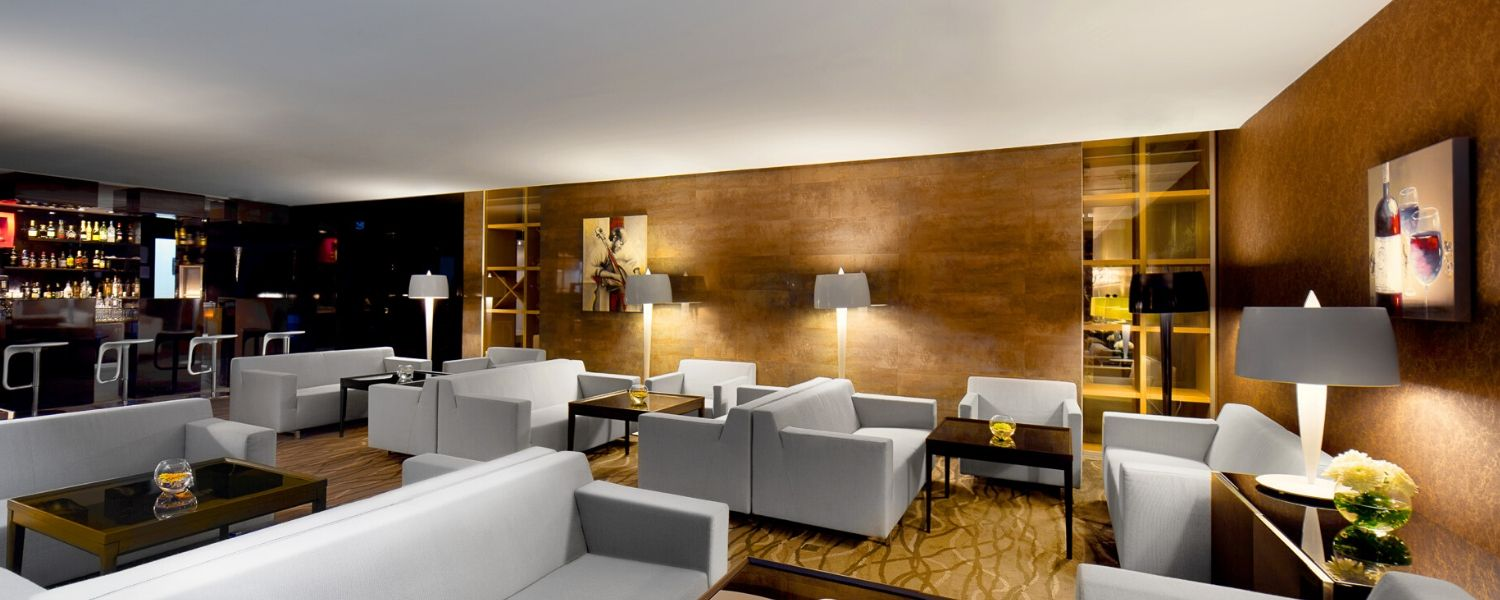 Hotel photography of lobby in New York luxury hotel