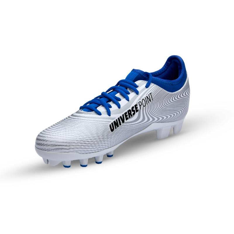 cleats soccer shoes, angle shot on a white background