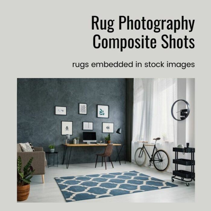 Composite shots for rug photography