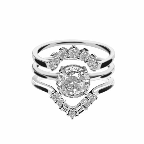 Diamond Bridal Set Rings Photography in North New Jersey