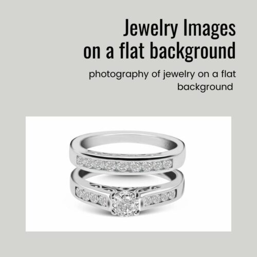 Jewelry Photography on a flat background