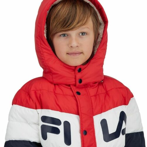 File jacket kids clothing photography on white background for ecommerce