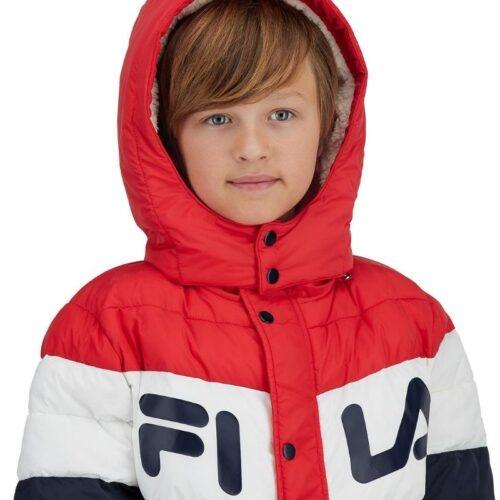 File jacket kids clothing photography on white background for ecommerce