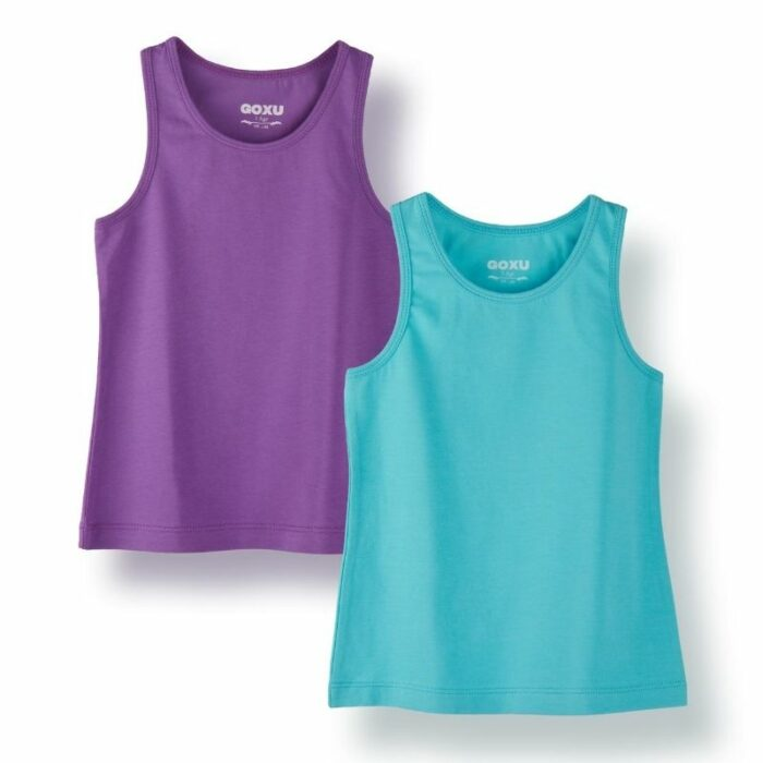 Kids tank top product photography for Amazon ecommerce on white background