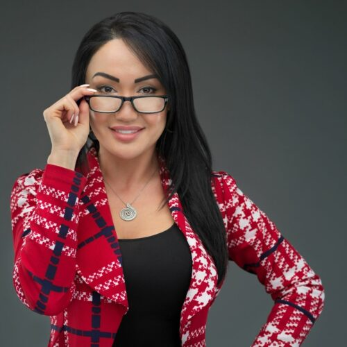 High-end headshot of a business woman