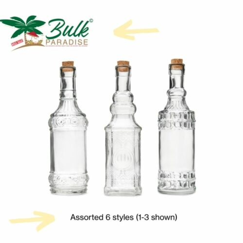 Glass Bottles Photography on a White Background