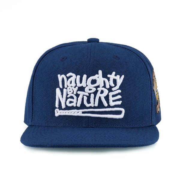 Blue Hat Naughty by Nature Picture on a white background for e-Commerce platforms