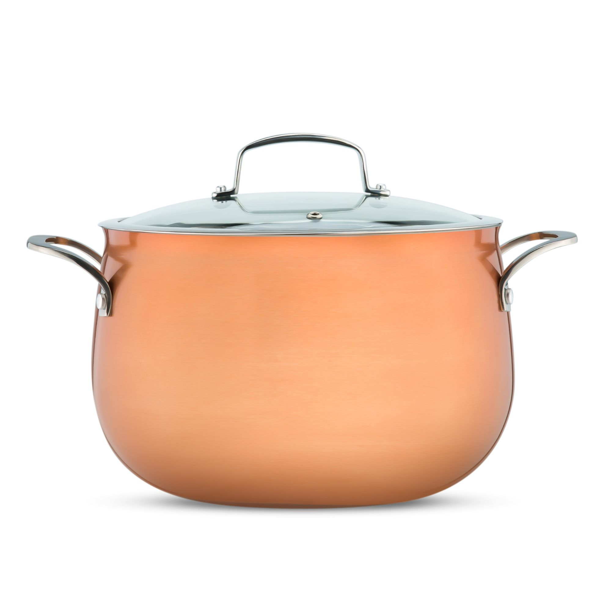Copper Cookware Photo on a white background for eCommerce