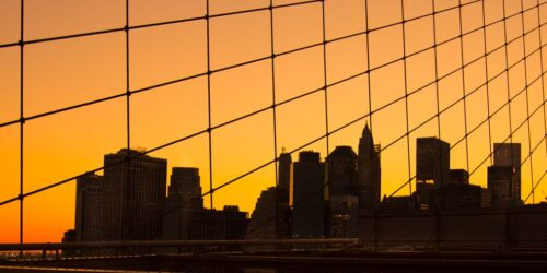 Architectural Photography of buildings in a sunset