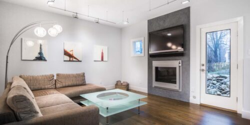 Interior Photography of TV Lounge