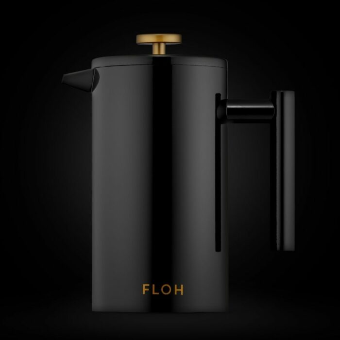 Black Teapot Image on Black Background