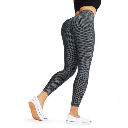 Leggings clothing photography on a model. White bacground tiktok leggings