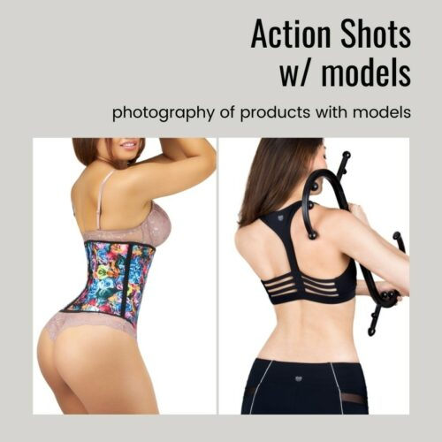 Photographing products in action with models