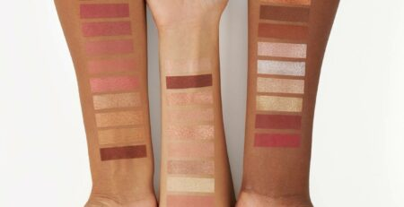 Swatches on the Arms for Beauty Products